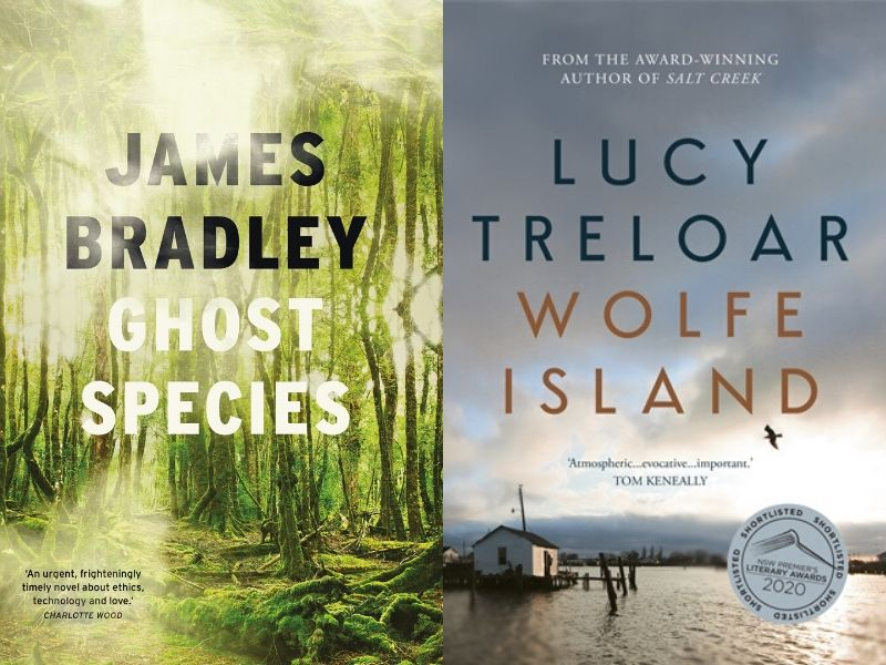 Ghost species and Wolfe Island Book Covers.